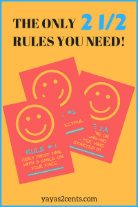The Only 2 1/2 rules you need!|parentinghighschoolers.com