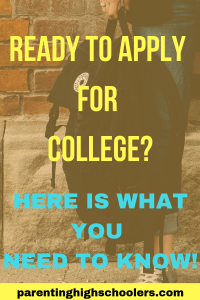 6 Tips for Applying to College|www.parentinghighschoolers.com