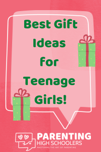 "Comment box saying ""Best Gift Ideas for Teenage Girls""