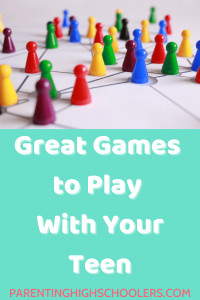 A game board with multi-colored game pieces|www.parentinghighschoolers.com