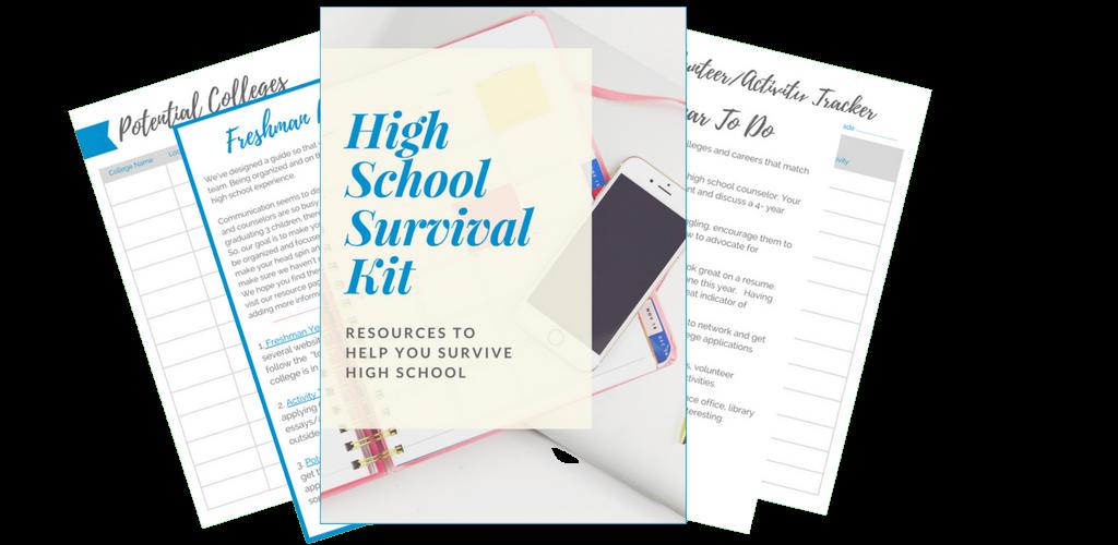 high school survival kit